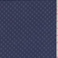 *1 YD PC--Navy Sea Hashtag Leno Chiffon