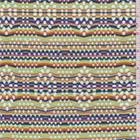 *1 YD PC--Rainbow Stripe Mesh Knit