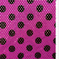 *5 1/4 YD PC--Magenta Hologram Dot Activewear
