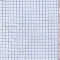 *1 YD PC--White/Sky Check Cotton Shirting