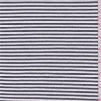 *1 3/8 YD PC--Black/White Rayon Seersucker