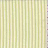 *3/4 YD PC--White/Lemon Lime Nylon Seersucker