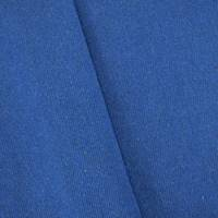 *7/8 YD PC--Blue Wool Blend Twill Woven Jacketing