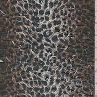 *3 YD PC--Brown/Black Cheetah Print Pucker Knit
