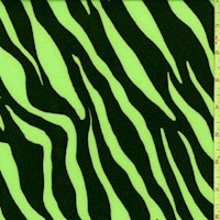 Day Glo Green Zebra Double Brushed Jersey Knit