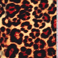 Yellow/Black/Red Leopard Brushed Jersey Knit
