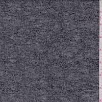 Black/Grey Slubbed Sweater Knit