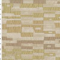 *1 YD PC--Sand Beige/Brown Michael John Henessy Matelasse Decor Fabric