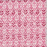 "*1 YD PC--Rose Pink ""Lattice"" Print Cotton"
