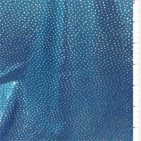 *4 YD PC--Metallic Blue Hologram Activewear
