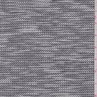 *4 1/2 YD PC--Pewter/White Textured Double Knit