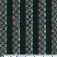 *1/2 YD PC--Black Multi Fancy Stripe Suiting