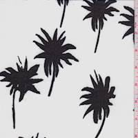 *5 1/8 YD PC--White/Black Palm Chiffon