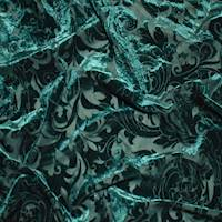 *2 YD PC--Enchanted Green Baroque Burnout Velvet Knit