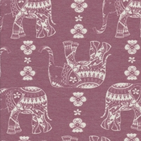 Light Cranberry Moroccan Elephant Double Brushed French Terry Knit