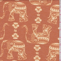Squash Moroccan Elephant Double Brushed French Terry Knit