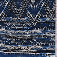 Ink/Black/Ecru Batik Diamond Rayon Challis