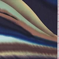 *4 5/8 YD PC--Sapphire/Amethyst Multi Wave Nylon Knit