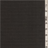 *2 1/8 YD PC--Dark Brown Stripe Suiting