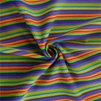 *2 7/8 YD PC--Rainbow/Multi Stripe Knit