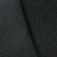 *2 YD PC--True Black Wool Blend Sweatshirt Fleece