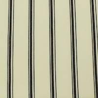 *1 YD PC--Ivory/Black Wool Blend Stripe Twill Suiting
