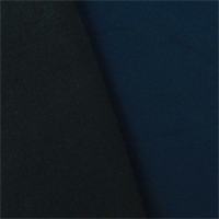 *1 3/4 YD PC--Navy Blue Wool/Poly Brushed Crepe Twill Jacketing