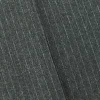 *6 YD PC--Static Gray Pinstripe Wool Blend Jacketing