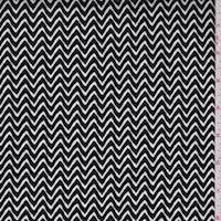 *1 1/2 YD PC--Black/White Zig Zag Stretch Sateen