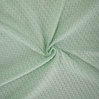 Winter Mint Green Semi-Opaque Pique Knit