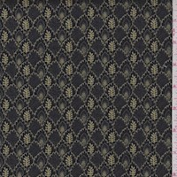 "*3 1/4 YD PC--Black ""Imprint"" Print Cotton"