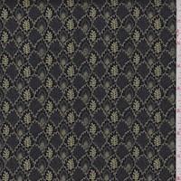 "*3 1/4 YD PC--Black ""Imprint"" Print Cotton"