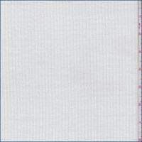 *1 YD PC--White Double Rib Sweater Knit
