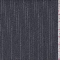 *2 YD PC--Charcoal Pinstripe Stretch Denim