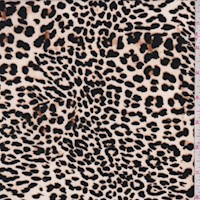 *1 YD PC--Off White/Black Mini Leopard Print Nylon Knit