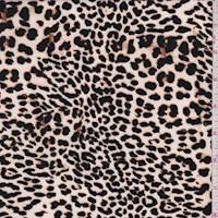 *1 YD PC--Off White/Black Mini Leopard Print Nylon Knit