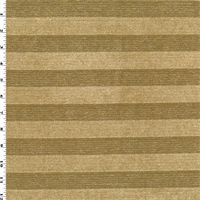*2 YD PC--Tan Beige Chenille Stripe Home Decorating Fabric