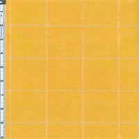 *1 1/2 YD PC--Golden Yellow Windowpane Plaid Home Decor Linen