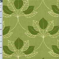 *2 1/4 YD PC--Green Mulberry Leaf Print Home Decor Cotton