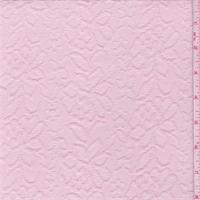 *2 1/2 YD PC--Creamy Pink Floral Jacquard Knit