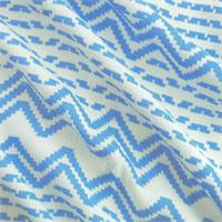*1 1/4 YD PC--Blue/White Stripe Print Challis