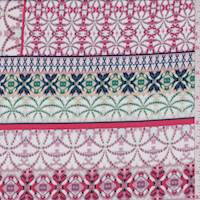 *2 YD PC--White/Mauve Deco Stripe ITY Jersey Knit
