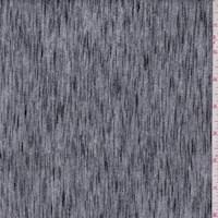 *2 3/4 YD PC--Grey/Black Static Stripe Jersey Knit