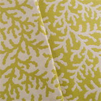 *11 YD PC--Pear Green/Ivory Coral Double Jacquard Decorating Fabric