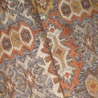 *1 YD PC--Orange/Brown/Multi Tribal Chenille Jacquard Decor Fabric
