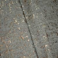 *1 YD PC--Gray/Metallic Brown Textured Jacquard Home Decorating Fabric
