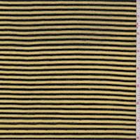 *2 3/4 YD PC--Yellow/Black Stripe T-Shirt Knit