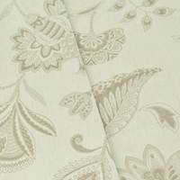 *4 ½ YDS PC--Ivory/Beige Floral Paisley Jacquard Home Decorating Fabric