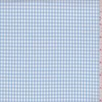 *4 1/2 YD PC--Baby Blue/White Check Cotton