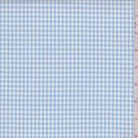 *3 1/8 YD PC--Baby Blue/White Check Cotton
